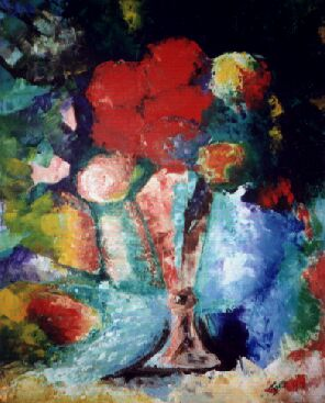 Vase of Flowers (after Gauguin) by Tom Lacey